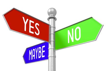 選択コンセプト - カラフルな道標