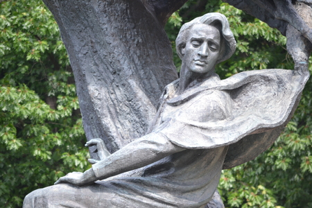 Frederic Chopin monument, Warsaw, Poland Editorial
