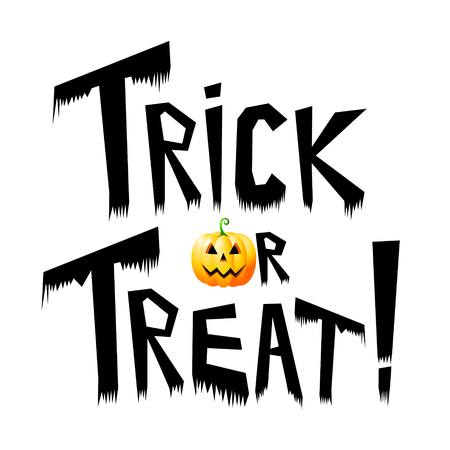 Halloween card - trick or treat! Stock Photo