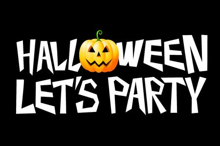Halloween card - lets party Фото со стока