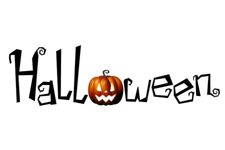 Halloween card, white background
