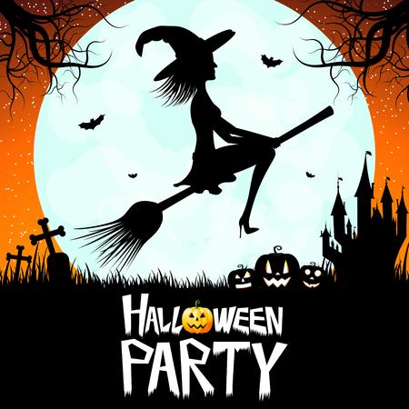 Halloween card - Halloween Party! Zdjęcie Seryjne