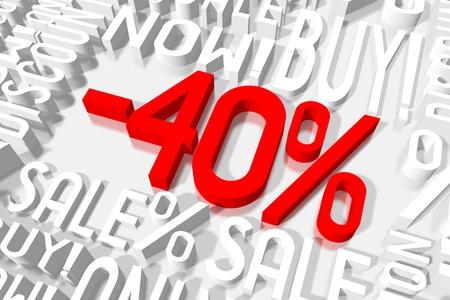 3D 판매 -40 %