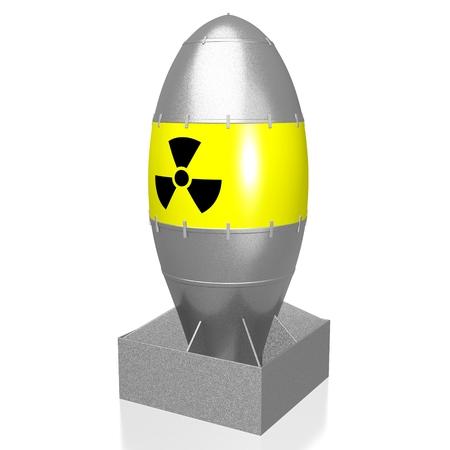 Bombe atomique 3D Banque d'images