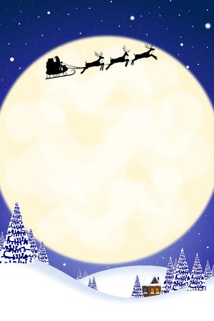 Christmas card template Stock Photo