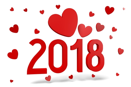2018 New Year illustration Standard-Bild
