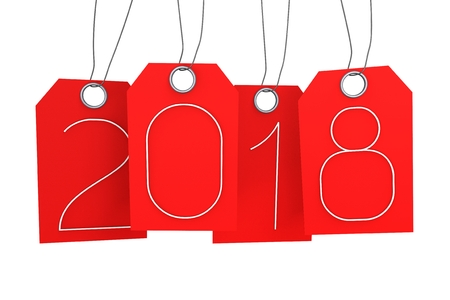 2018 New Year illustration Stock Photo
