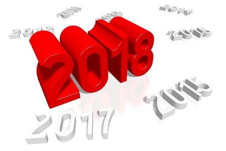 2018 New Year illustration Stock Photo