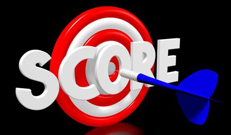 dartboard: 3D darts - score