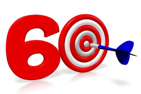 3D darts - sixty (60)