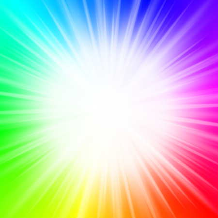 Abstract background - rainbow, explosion