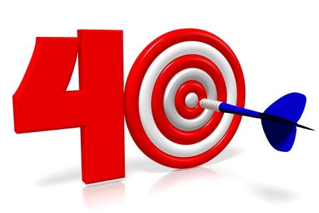 3D 다트 - 40 (40) 스톡 콘텐츠 - 89609960