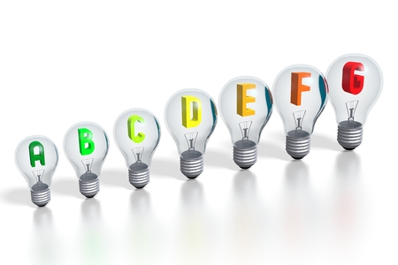 3D efficiency chart - lightbulbs