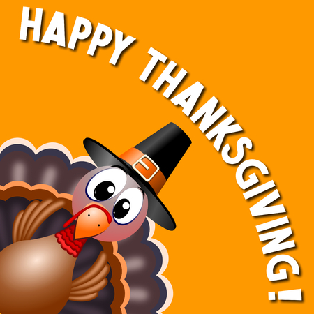Happy Thanksgiving card Stock Photo