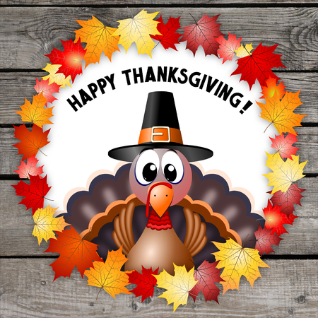 Happy Thanksgiving card Banque d'images