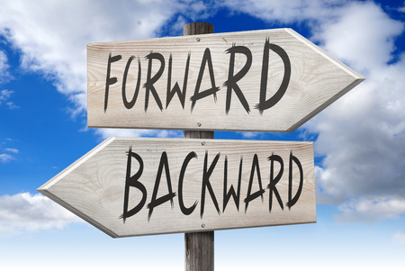 Forward, backward - signpost