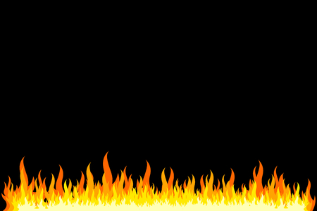 Fire frame - black background Stock Photo