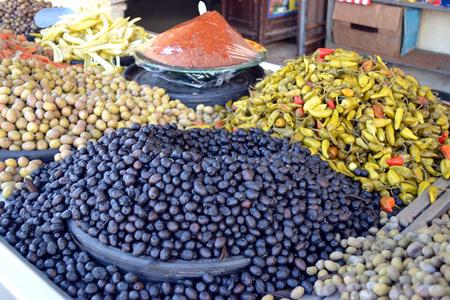 Olives on markt in Tunisia