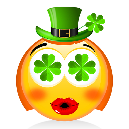 St. Patricks Day - girl emoji with hat