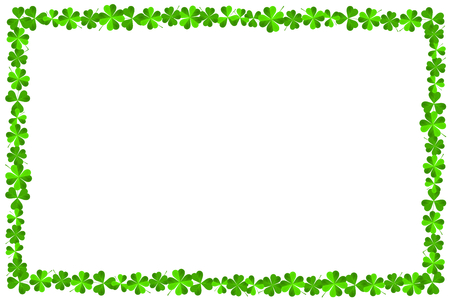 St. Patricks Day - frame made out of clover Stock Photo