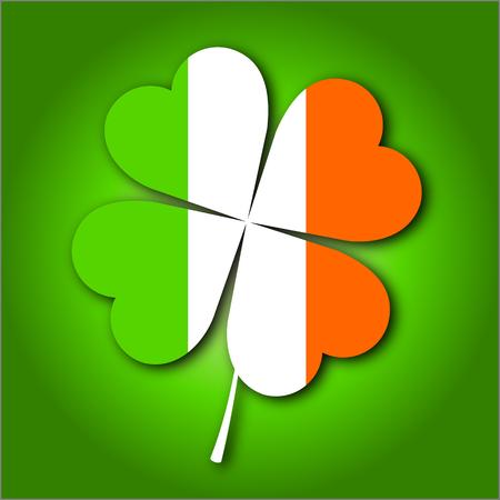 St. Patricks Day illustration - clover shamrock