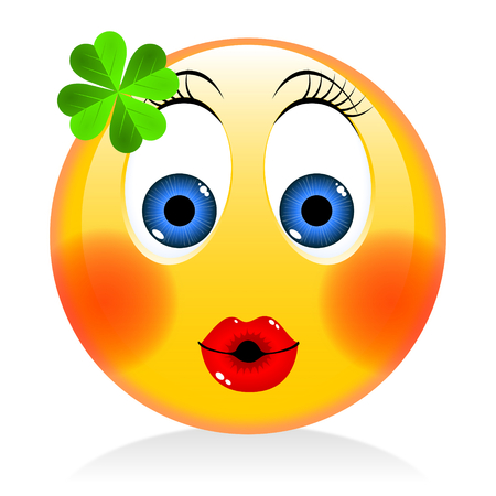 St. Patricks Day - girl emoji