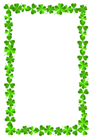 St. Patrick's Day - frame made out of clover
