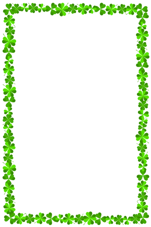 St. Patrick's Day - frame made out of clover Stock Photo