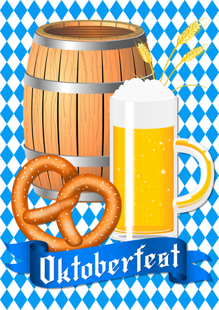 Oktoberfest - poster, placard Stock Photo