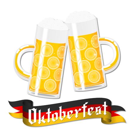 Oktoberfest illustration - beer