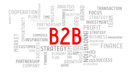 B2B (business to business) - typographic concept Stockfoto