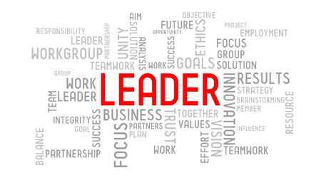 Leader - typographic concept 스톡 콘텐츠