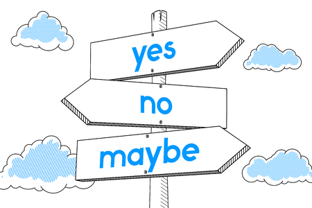 Choice concept - signpost, white background Stock Photo
