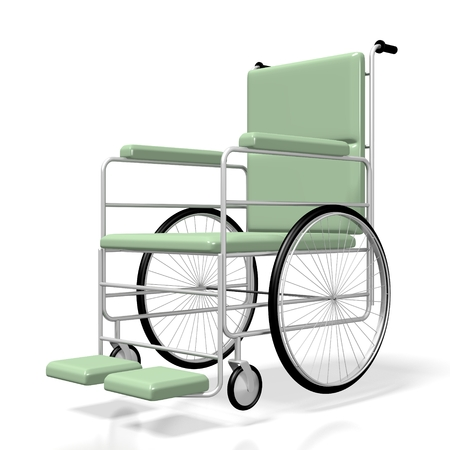 3D wheelchair Stock Photo