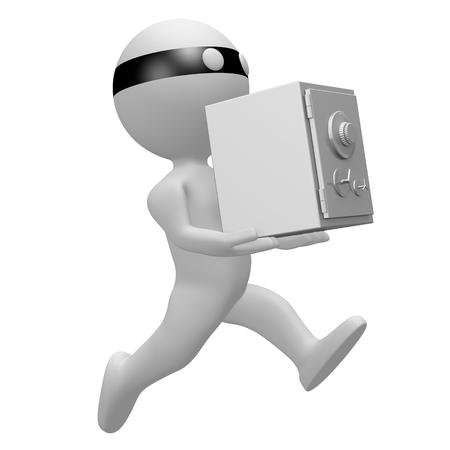 Thief holidng a vault