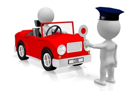 Vehicle check - car, policeman Standard-Bild