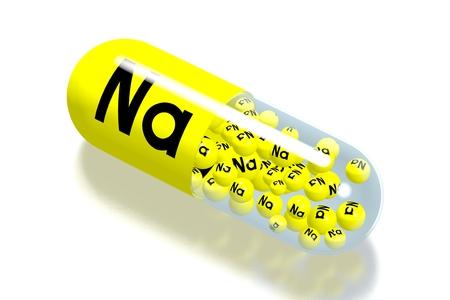 Mineral concept - Na - sodium