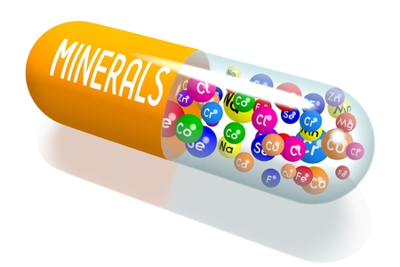 Minerals concept - orange capsule
