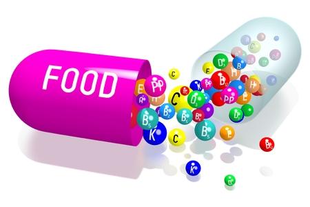 Food concept - violet capsule