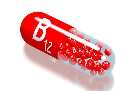 Vitamin B12 concept Foto de archivo