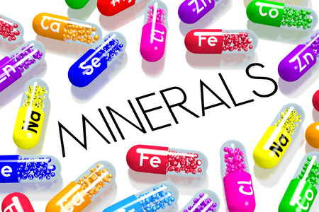 Minerals concept - colorful pills