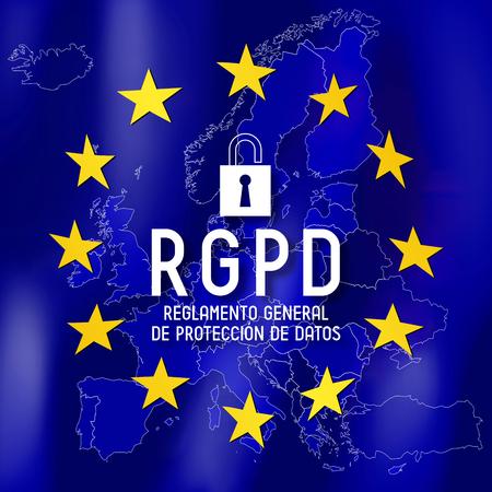 RGPD (Spanish)/ GDPR (English) - General Data Protection Regulation Standard-Bild