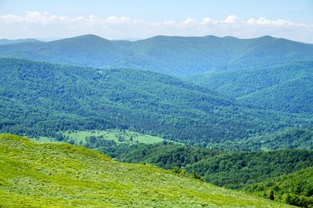 Bieszczady Poloniny Mountains in Poland Stock Photo