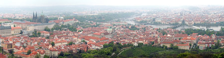 Prague - Vltava river, panorama