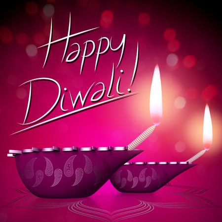 Happy Diwali - card/ illustration Stockfoto - 106530997
