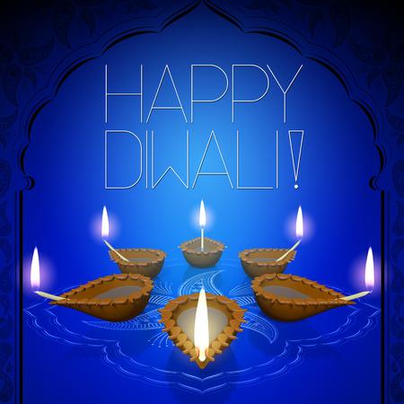 Happy Diwali - card illustration