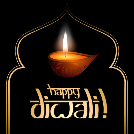 Happy Diwali card with a candle Stockfoto - 106532075
