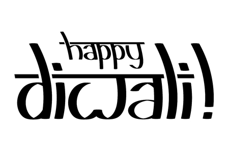Happy Diwali - black text on white background Stockfoto - 106532082