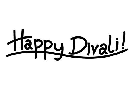 Happy Diwali - black text on white background Stockfoto - 106532085