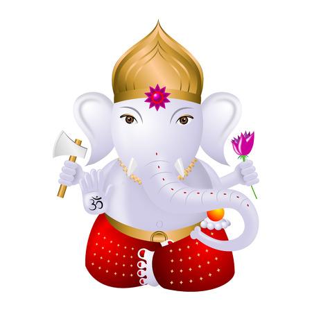 Ganesha - Indian god Stock Photo